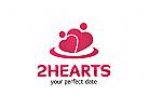 Zwei Herzen, Two hearts Logo