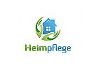 Ö Zwei Hände und Haus, Heimpflege Logo