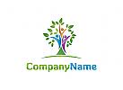 Menschen, Gruppe, Familie, Baum, Schule, Lernen, Coaching Logo