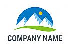 Gebirge logo, Mountains logo