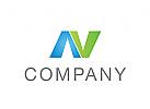 Zeichen, Signet, Logo, Company, Buchstabe, N, Abstrakt