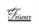 Friseur Logo, Schere, Haarschnitt