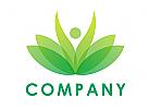 Wellness, Bl�tter Logo, Aufbl�hen, Kosmetik