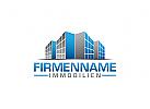 Immobilien Logo, Gebäude, Architektur, Gebäude, Haus, Bauwerk