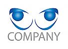 Zwei Augen, Gesicht Logo