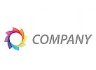 Stern, Blume, farbig Logo