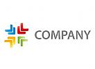Zeichen, Zeichnung, Symbol, Pfeile, Vier Farben, Coaching, Consulting, Logo