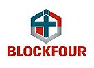 Zahl 4 Logo