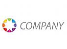 Viele Dreiecken, farbig Logo