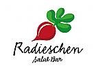 Radieschen, restaurant Salat