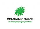 �kologie Logo, Menschen, Gruppen, Natur, Recycling
