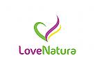 Natur Logo, Blumen, Dekoration, Schmuck, Massage, Spa, Wellness, Kosmetik