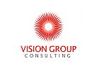 Horizont, Vision, Sonne, Beratung Logo
