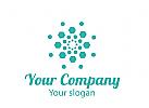 Salzkristall Logo. F�r eine Salzklinik oder Salzgrotte.