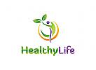 Natur, gesund, Bl�tter, Mensch, Person, Spa, Wellness, Kosmetik, Gesundheit, Pflege Logo