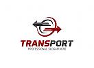 Transport, Logistik, Eckig Logo