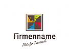 Logo Fliesenleger, Fliesengesch�ft, Windrad