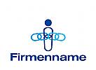 Logo Mensch abstrakt