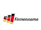 Logo Balken in Deutschlandfarben