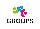 Gruppe Logo, Menschen, sozialen