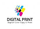 digital, drucken, Druckeri Logo