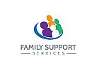Menschen Logo, Gruppen, Familie