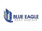 Adler Logo, Immobilien, blau, Architektur, Inspektion