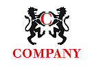 Wappen Löwen Initiale Logo