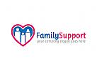 Familie Logo, Mutter, Liebe, Herz