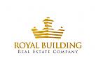 Krone Logo, Immobilien, Gold, Bank