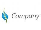 Tropfen, Pflanze Logo