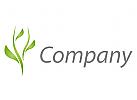 Ökologie, Zweifarbig, Zeichen, Zeichnung, Symbol, Pflanze, Blätter, Baum, Logo
