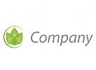 Drei Bl�tter, Blume Logo