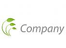 Drei Bl�tter, Pflanze Logo