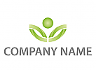 Eine Person, Bl�tter, Blume Logo