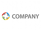 Vier Personen, Gruppe, Team Logo