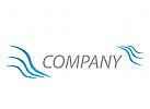 Wellen, Linien Logo
