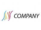 Linien, Wellen, farbig Logo