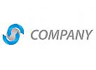 Kugel und Halbkreise in 3d Logo