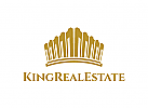 Krone Logo, Immobilien, Gold, Bank