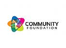 Gemeinschaft Logo, Stiftung, Verein, Menschen, Gruppe