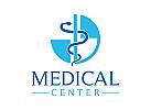 Äskulapstab Logo, Medizin, Apotheke, Krankenhaus