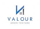 Buchstabe V, Immobilien Logo, Grundst�cke , Architektur, Bau