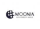 Mond Logo, Musik, Produktion, Medien, Technologie