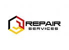 Schraubenschl�ssel  Logo, Reparatur Logo, Mechaniker Logo
