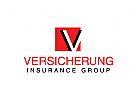 Buchstabe V, Versicherung Logo