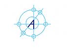 Zeichen, Signet, Logo, Konstruktion, Bau, Architekt, Buchstabe, A