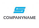 Logo, Pfeile, Logistik, Transport, Buchstabe, S