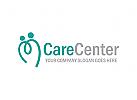 Pflege Logo , Hilfe, Menschen, Gruppe