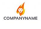 Logo, L�we, Lion, Feuer, Flamme, Energie